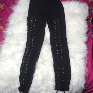 - Mustard seed black lace up pants size S